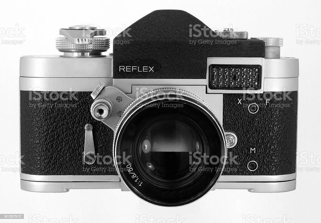 Vintage SLR camera royalty-free stock photo