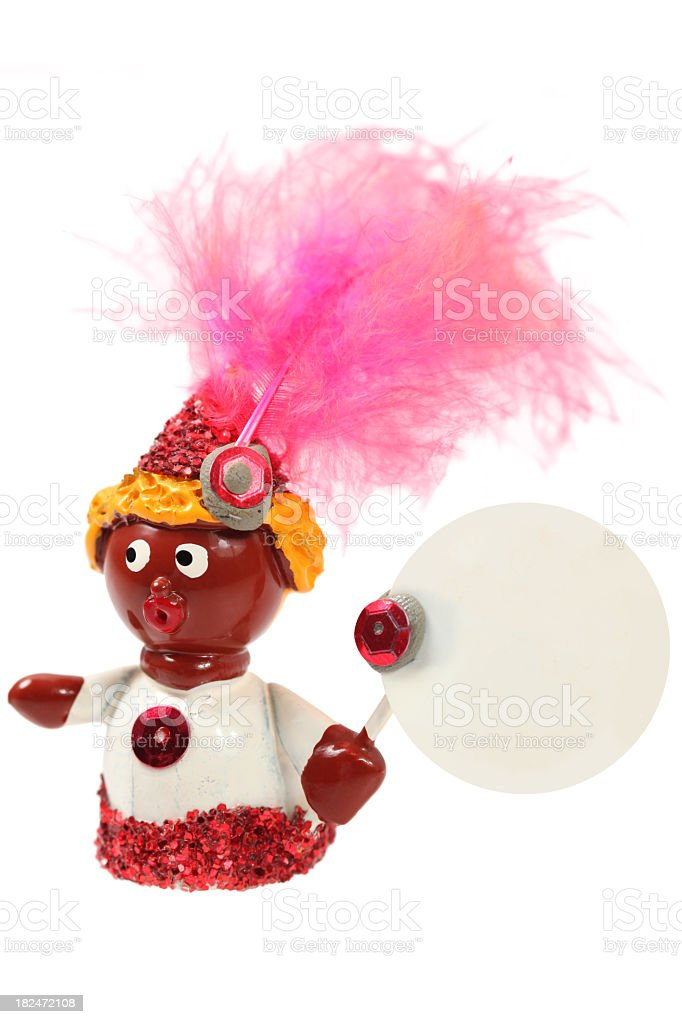 Vintage small Brazilian figurine royalty-free stock photo