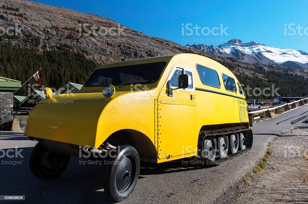 Vintage  Snowcoach stock photo