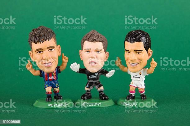 Foto de Vintage Soccerstarz Brinquedo Miniatura Xxxl Jogador De Futebol e mais fotos de stock de Antigo