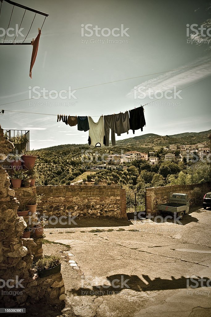 Vintage Southern Italy Village (Calabria region) royalty-free stock photo