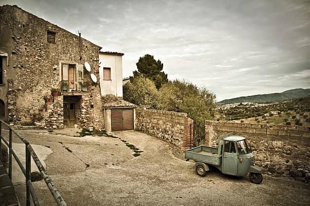 Vintage Italia meridionale Village (Calabria regione) - foto stock