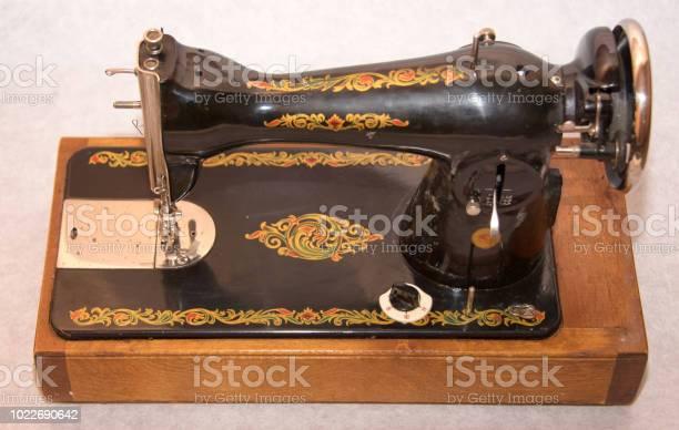 Vintage Soviet USSR Podolsk Handcrank Portable Sewing Machine PMZ Kalinin