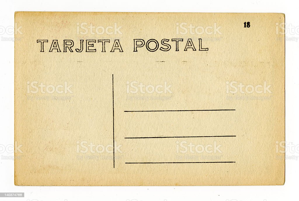 Vintage Spanish-Language Postcard royalty-free stock photo