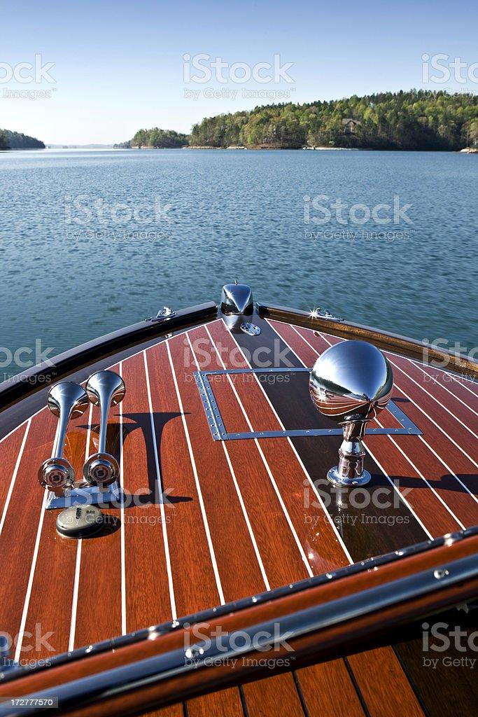 Vintage Speed Boat stock photo