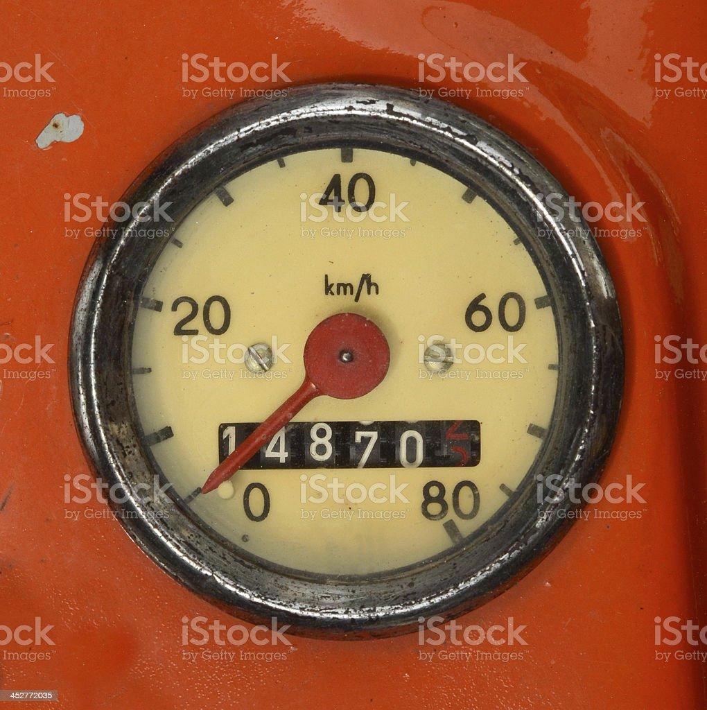 Vintage Speedometer royalty-free stock photo