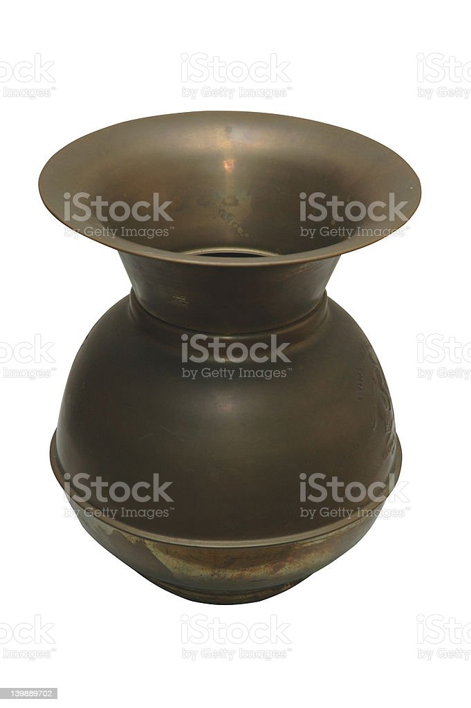 Vintage Spittoon - Isolated with Clipping Path stock photo