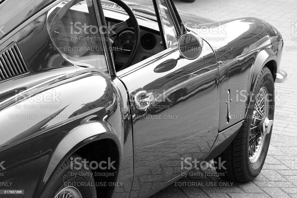 Vintage Sports Car stock photo