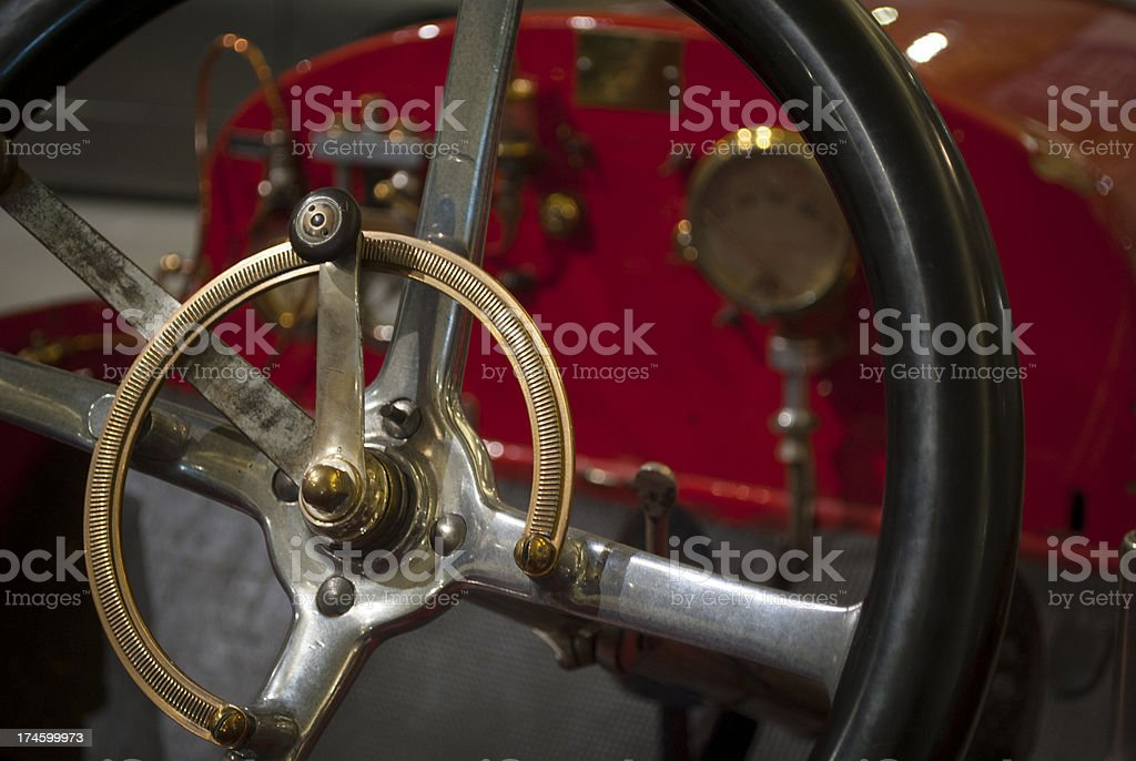 Vintage Sports Steering Wheel royalty-free stock photo