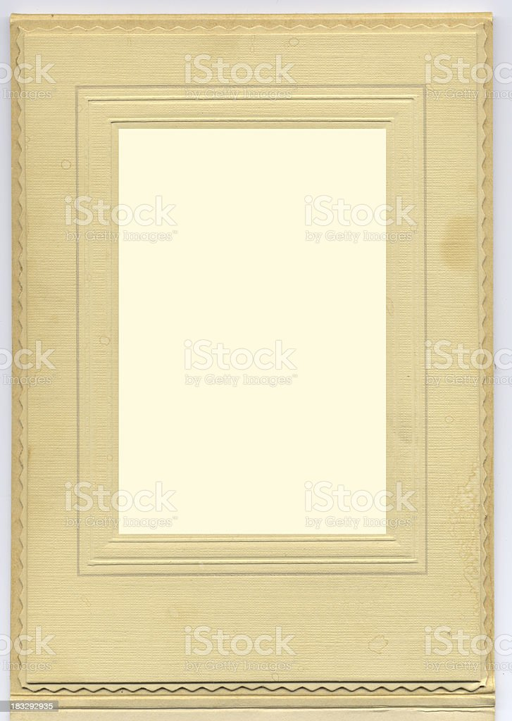 Vintage Stained Beige Photo Frame royalty-free stock photo