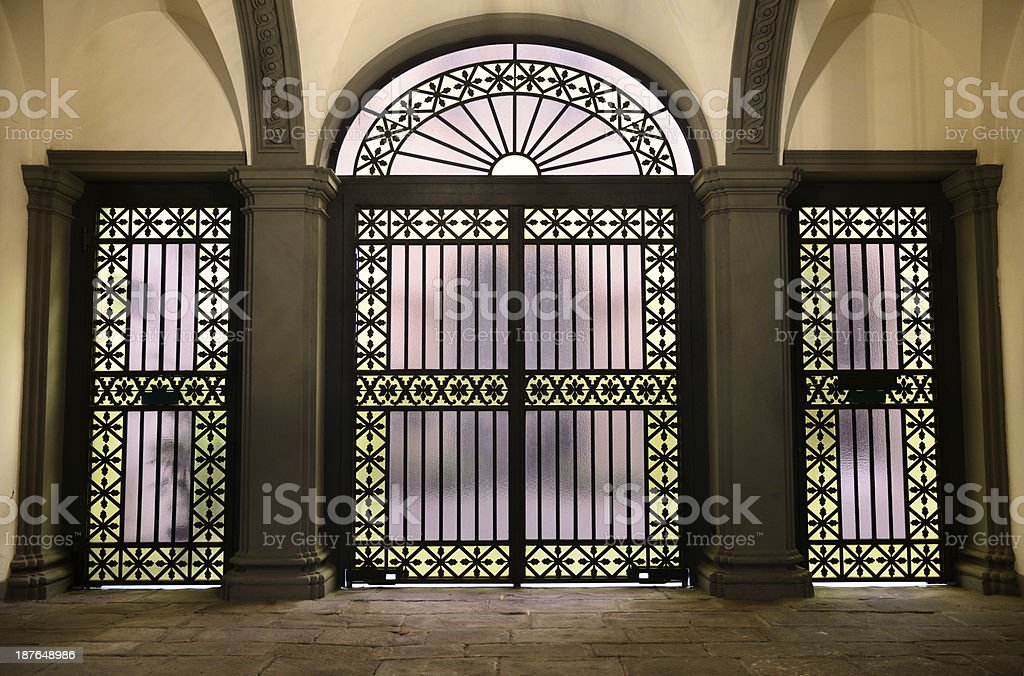 Vintage Stained Glass Door Stock Photo More Pictures Of 1920 1929