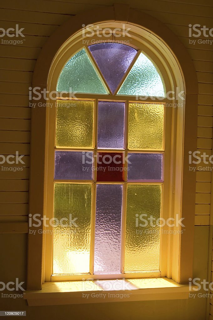 Vintage Stained Glass Window royalty-free stock photo
