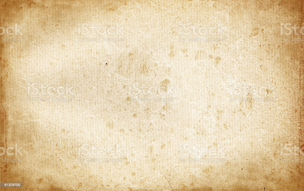 Vintage Stained Paper stock photo