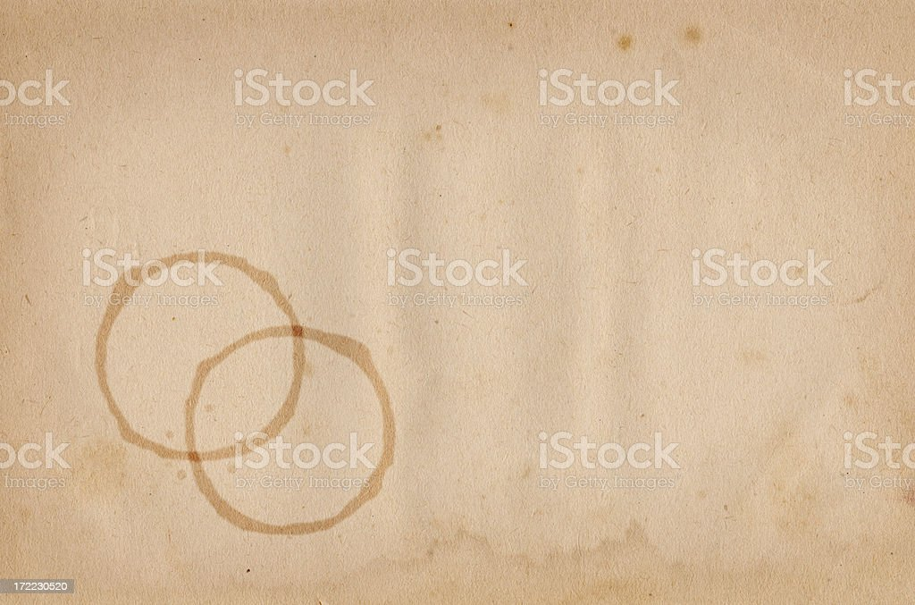 Vintage Stained Paper XXL royalty-free stock photo