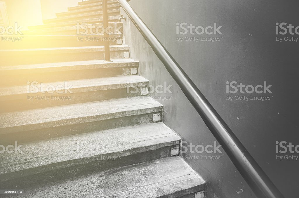 vintage stair stock photo