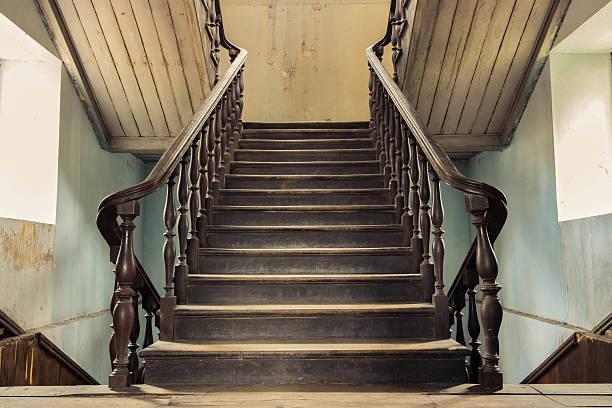 vintage-stepper - eingangshalle wohngebäude innenansicht stock-fotos und bilder