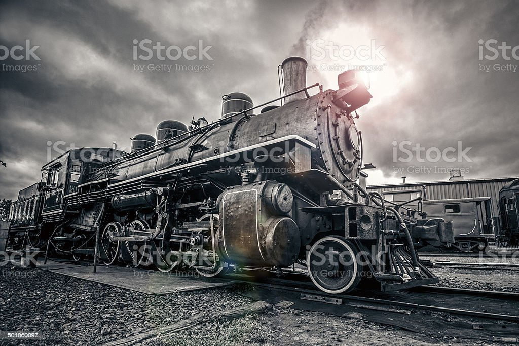 Vintage Steam Engine stock photo