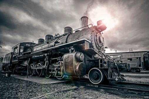 Vintagedampflokomotive Stockfoto und mehr Bilder von 1920-1929