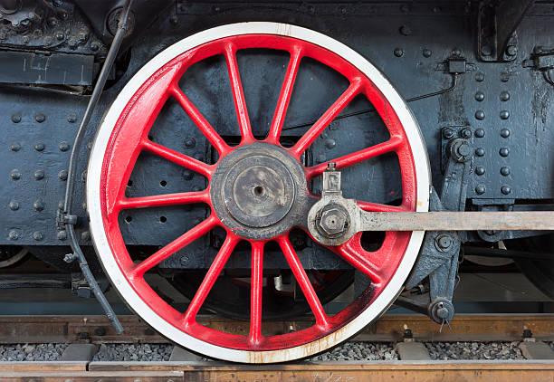 Retro steam locomotive wheels – Foto
