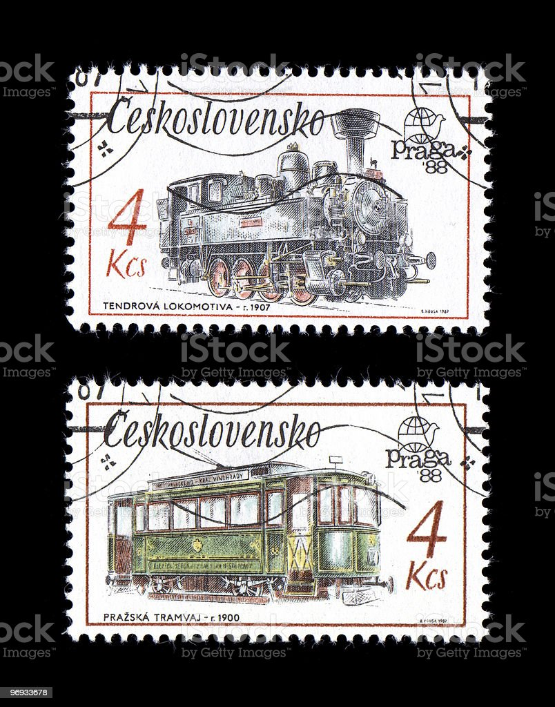 Vintage Steam Railroad Engine Street Car royalty-free stock photo