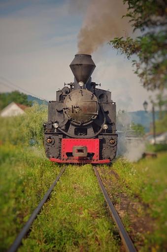 Mocanita - old time vintage steam train locomotive