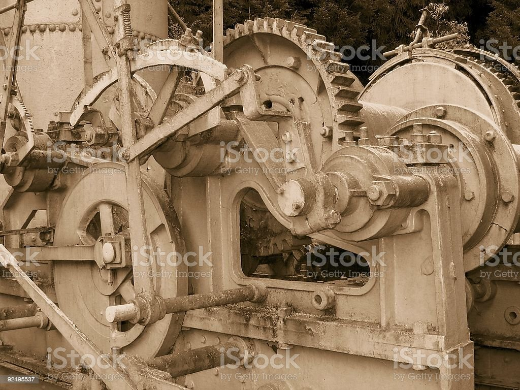 Vintage Steam-Powered Lumber Collector royalty-free stock photo