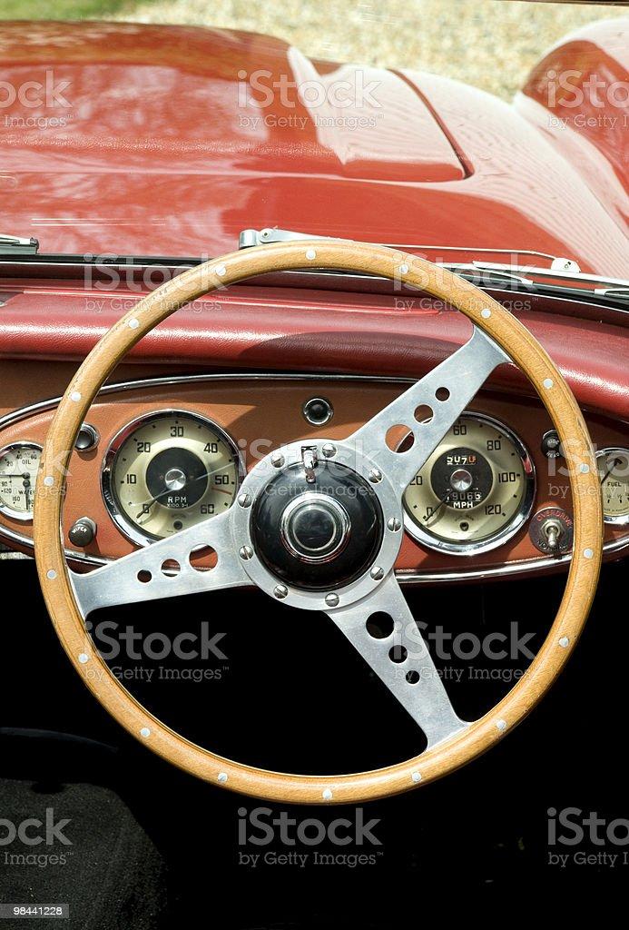 Vintage volante foto stock royalty-free