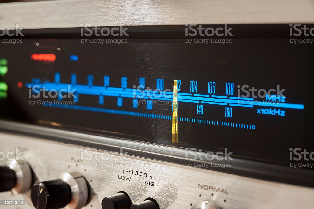 Vintage Stereo Radio stock photo