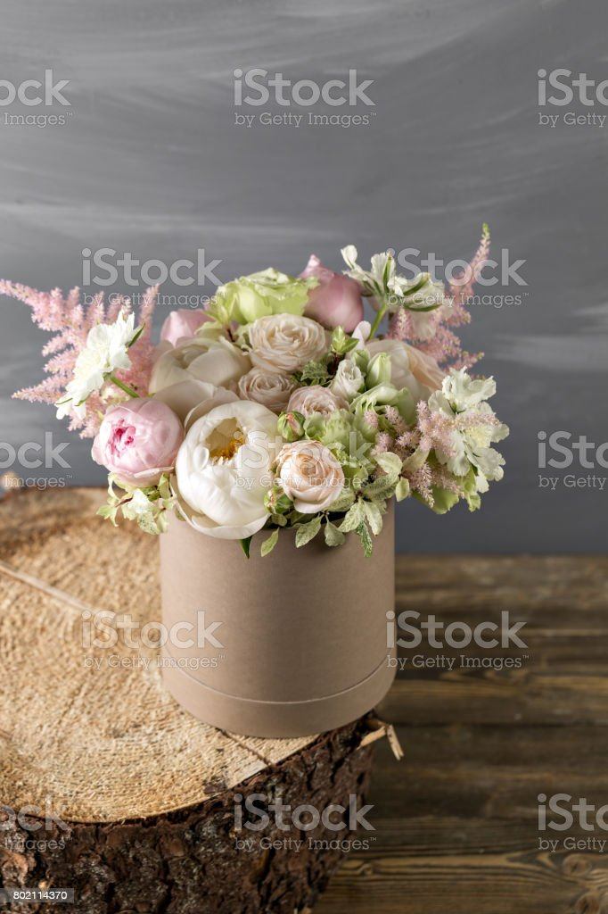 Vintage Still Life With Flowers. mixed color. different flowers...