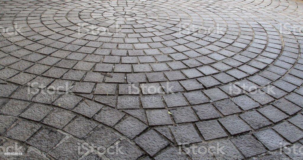 Vintage stone footpath stock photo