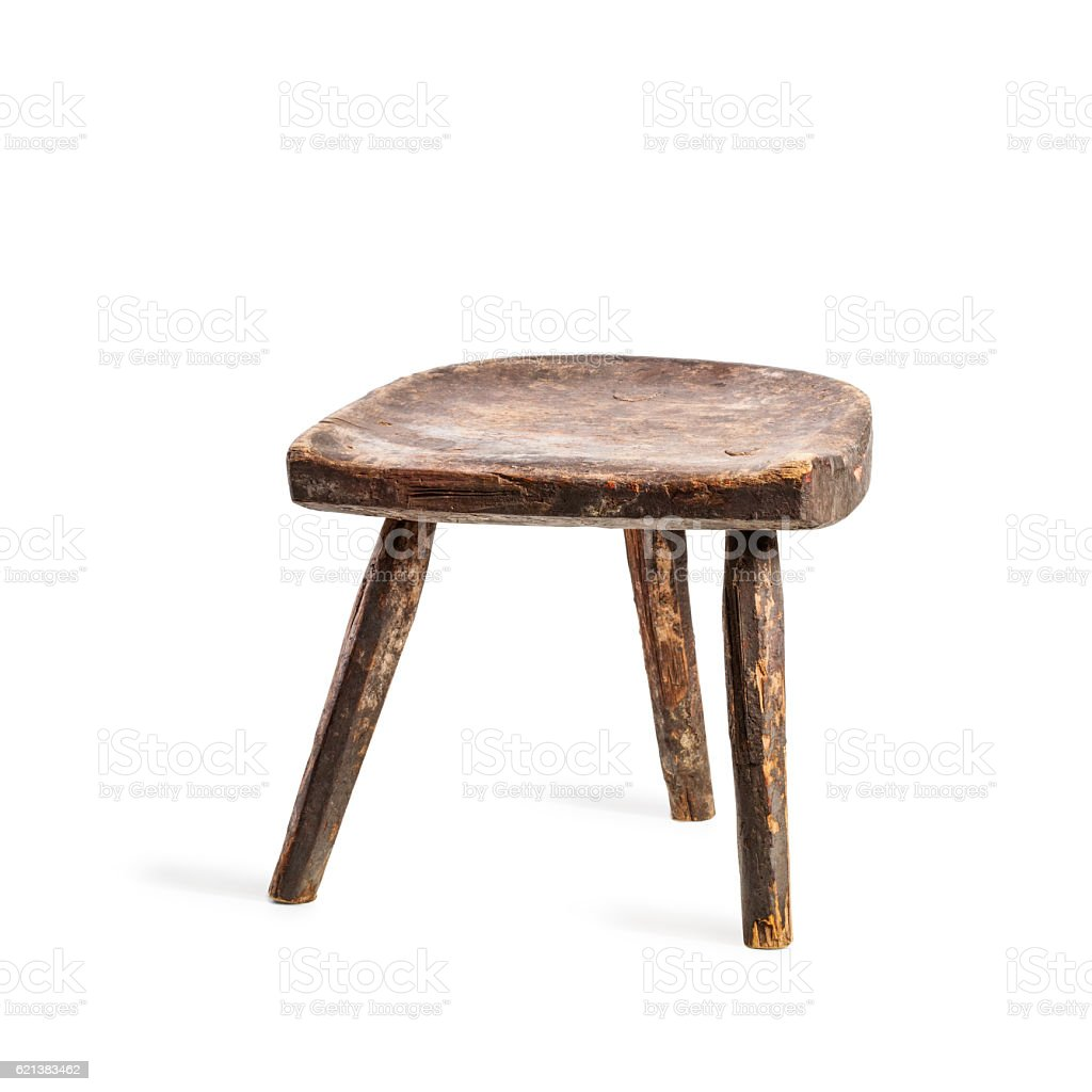 Vintage stool stock photo