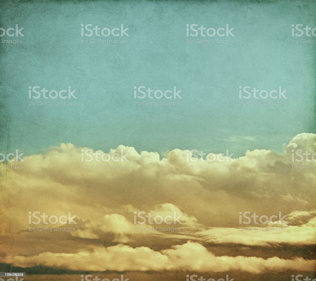 Vintage Storm Clouds royalty-free stock photo