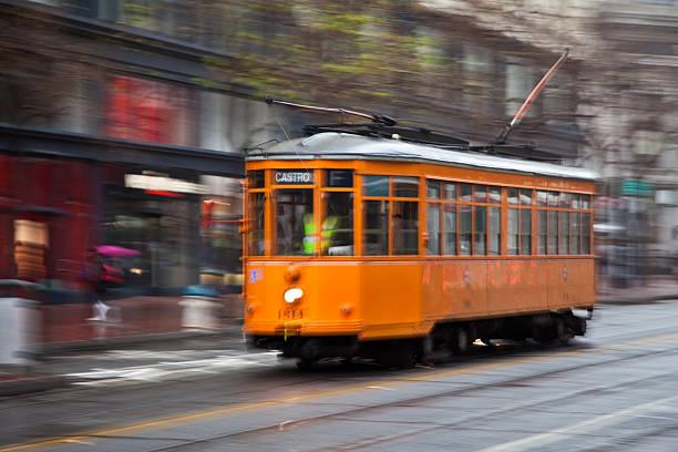 Vintage Streetcar in San Francisco stock photo