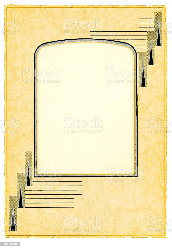 Vintage Studio Portfolio Picture Frame Isolated with Clipping Path stock photo