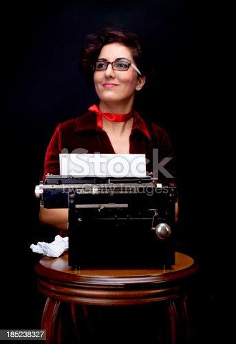 istock vintage style adult secretary 185238327