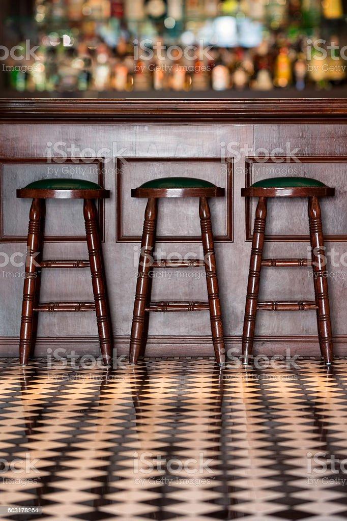 Vintage style bar. stock photo