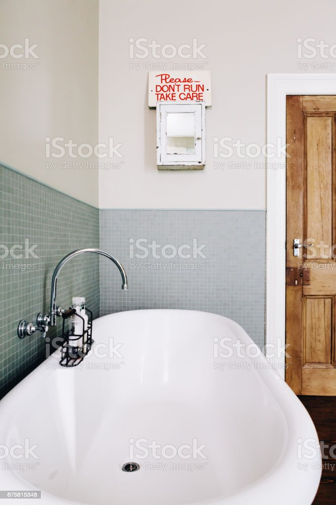 Terrific Vintage Style Bathroom With Quirky Retro Sign On An Old Download Free Architecture Designs Momecebritishbridgeorg