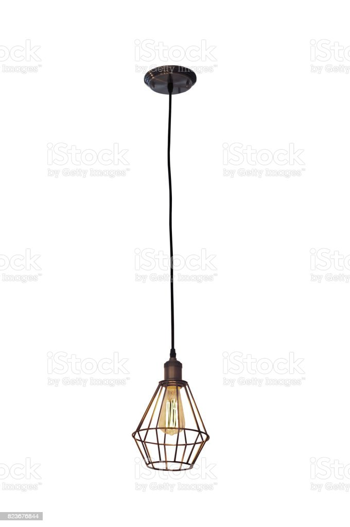 Vintage style ceiling lamp stock photo
