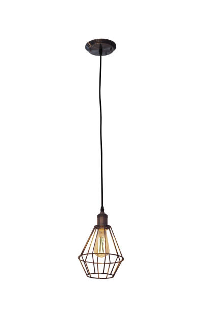 Vintage style ceiling lamp - foto stock