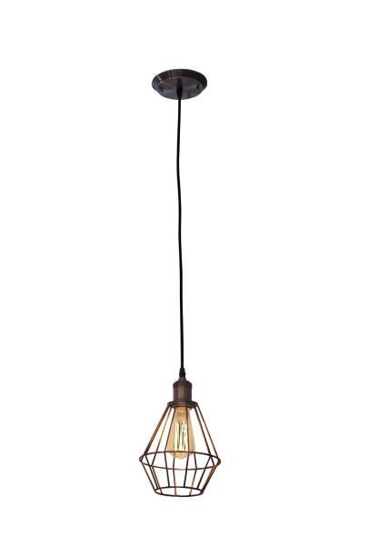plafonnier de style vintage - lampe électrique photos et images de collection