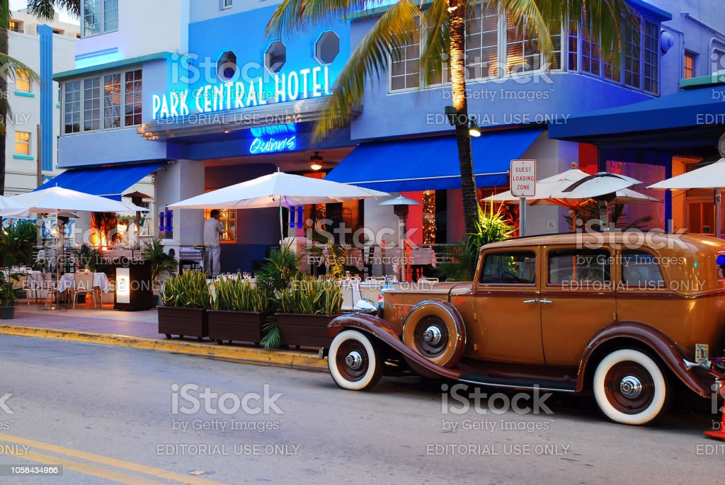 Vintage style in South Beach stock photo