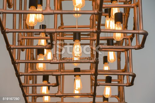 istock Vintage style light bulbs 519167292