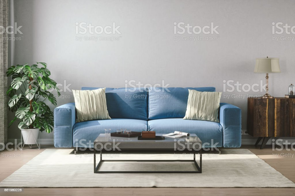 Vintage Style Living Room stock photo