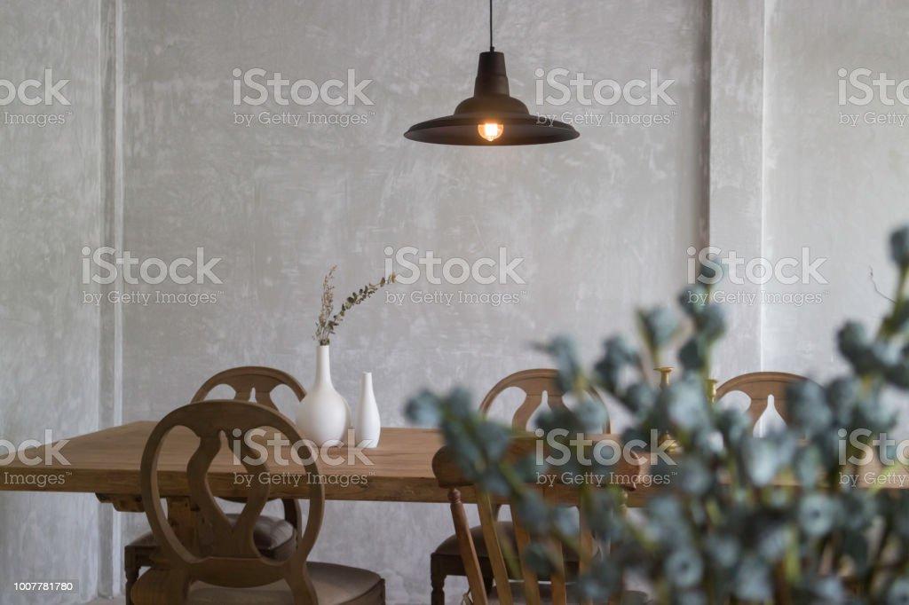 Conjunto Estilo Vintage De Muebles De Comedor De Madera Foto ...