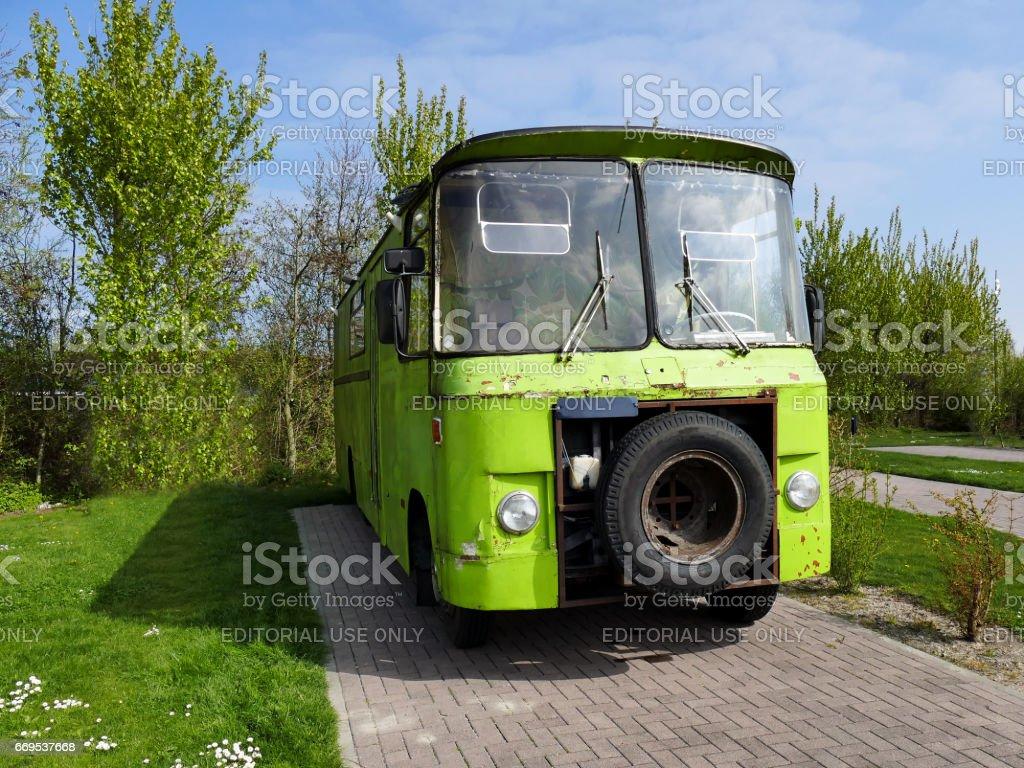 Ouddorp The Netherlands April 9 2017 Vintage Style Old Scrap Green