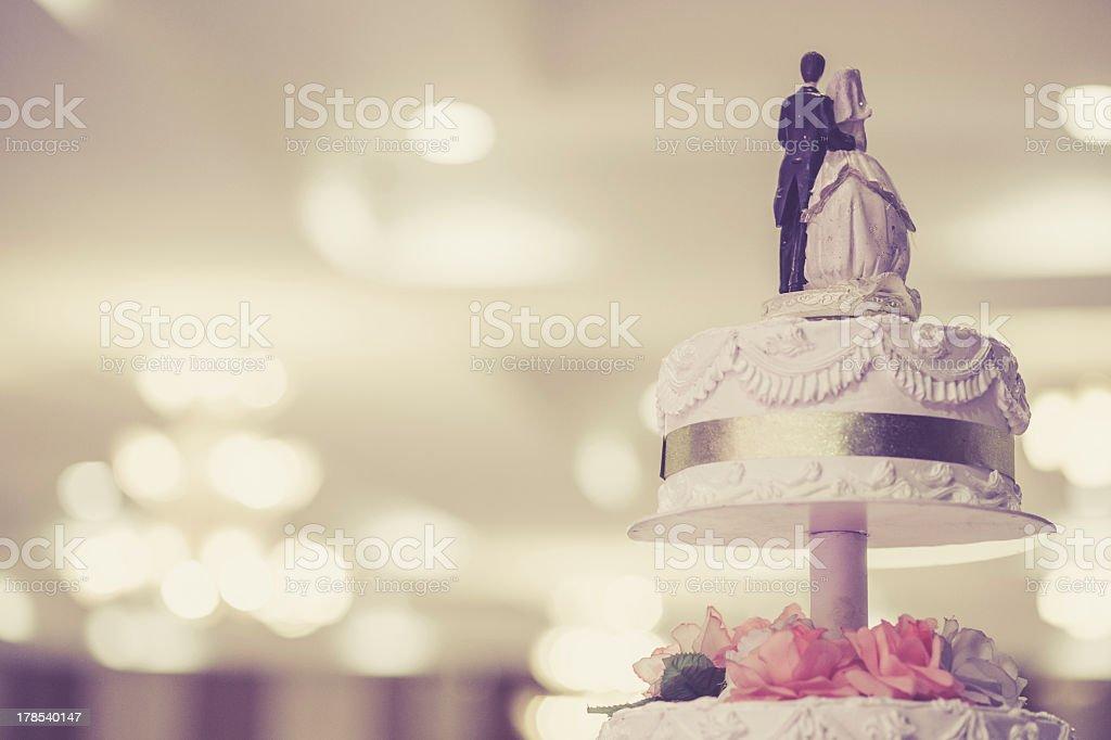 Vintage bolo de casamento - foto de acervo