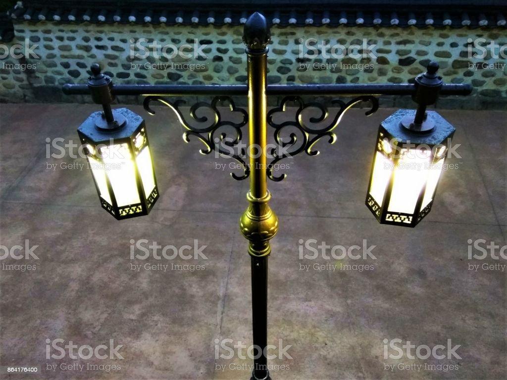 Vintage style street light Lantern royalty-free stock photo