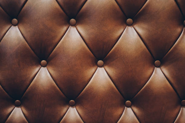 vintage style texture of brown leather pattern pattern of geniune leather mostly on the furniture tassel stock pictures, royalty-free photos & images