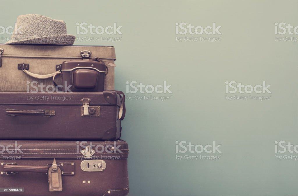 Vintage estilizado maletas - foto de acervo