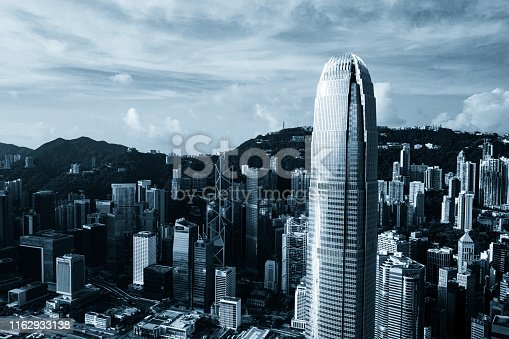 Central District - Hong Kong, Hong Kong, Two International Finance Center, Victoria Harbour - Hong Kong, Aerial View